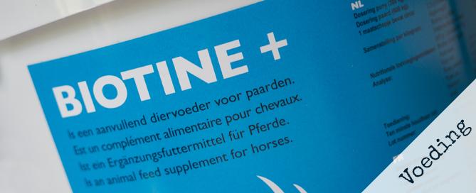 [Voeding] Biotine voor paarden